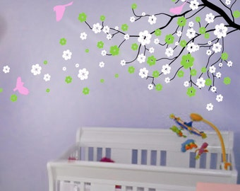 Cherry Blossom Wall Decals Tree Decals Baby Nursery Kids Flower Floral  Nature Girl Wall Decor Wall Part 89