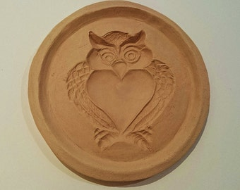 Halloween Owl Cookie Mold for Halloween Baking Desserts and Arts & Crafts Hand Built Stoneware