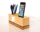 iPhone 5 Dock - iPhone 6 Dock - Pen Holder - Card Holder - Office organizer - unique gift