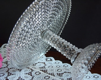 Columbia Glass Hobnail Cake Stand - Hobnail Glass Cake Stand - EAPG Cake Stand - Antique Cake Stand - Columbia Glass Cake Stand