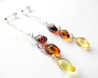 Baltic Amber Dangle Earrings
