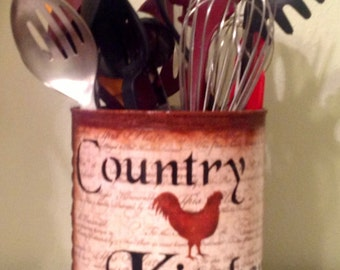 Ordinaire Rooster Kitchen Faux Rusty Tin..Kitchen Decor..Country Kitchen.