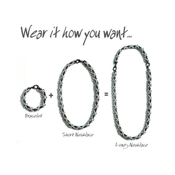 Transformer - Byzantine Chain Bracelet & Necklace