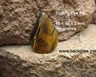 Group 1 - Tiger's Eye Semi Precious Gemstone Cabochons