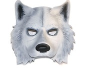 Leather White Wolf Mask