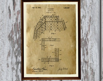 Wall patent print Technical drawing Industrial blueprint poster AKP6