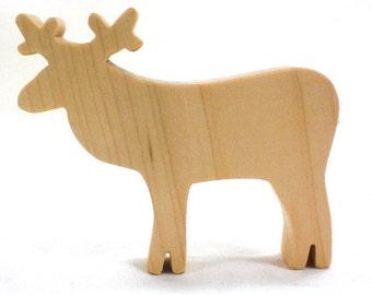 Christmas Reindeer Toy Caribou, woodland animal toy, scandinavian toy, christmas animal toy, toy reindeer, Stocking stuffer, Santas reindeer