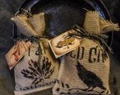 Fall Scented Corn Cobb Sacks ~ Crow