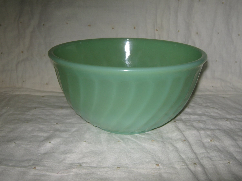 Fire King Jadite Jadeite 7 Inch Swirl Mixing Bowl