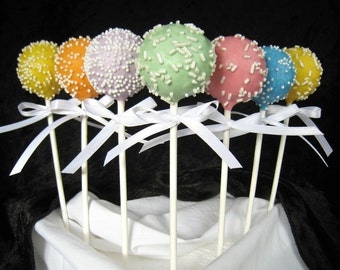 Baby Shower Cake Pops Made to Order with High Quality Ingredients, 1 Dozen Cake Pops