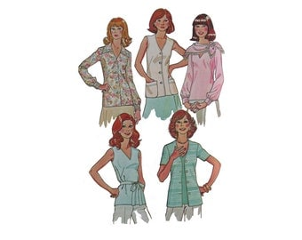 Blouse Misses Top Seventies Pattern McCall's 5002