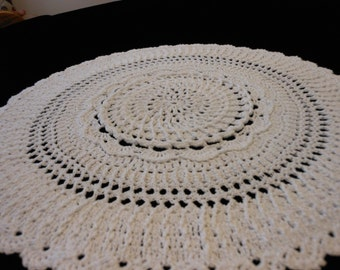 Texture to the extreme with this white doily