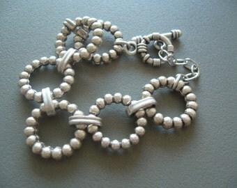 Loop bracelet metal/chain bracelet bold