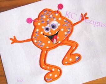Fun Monsters 04 Machine Applique Embroidery Design - 4x4, 5x7 & 6x8