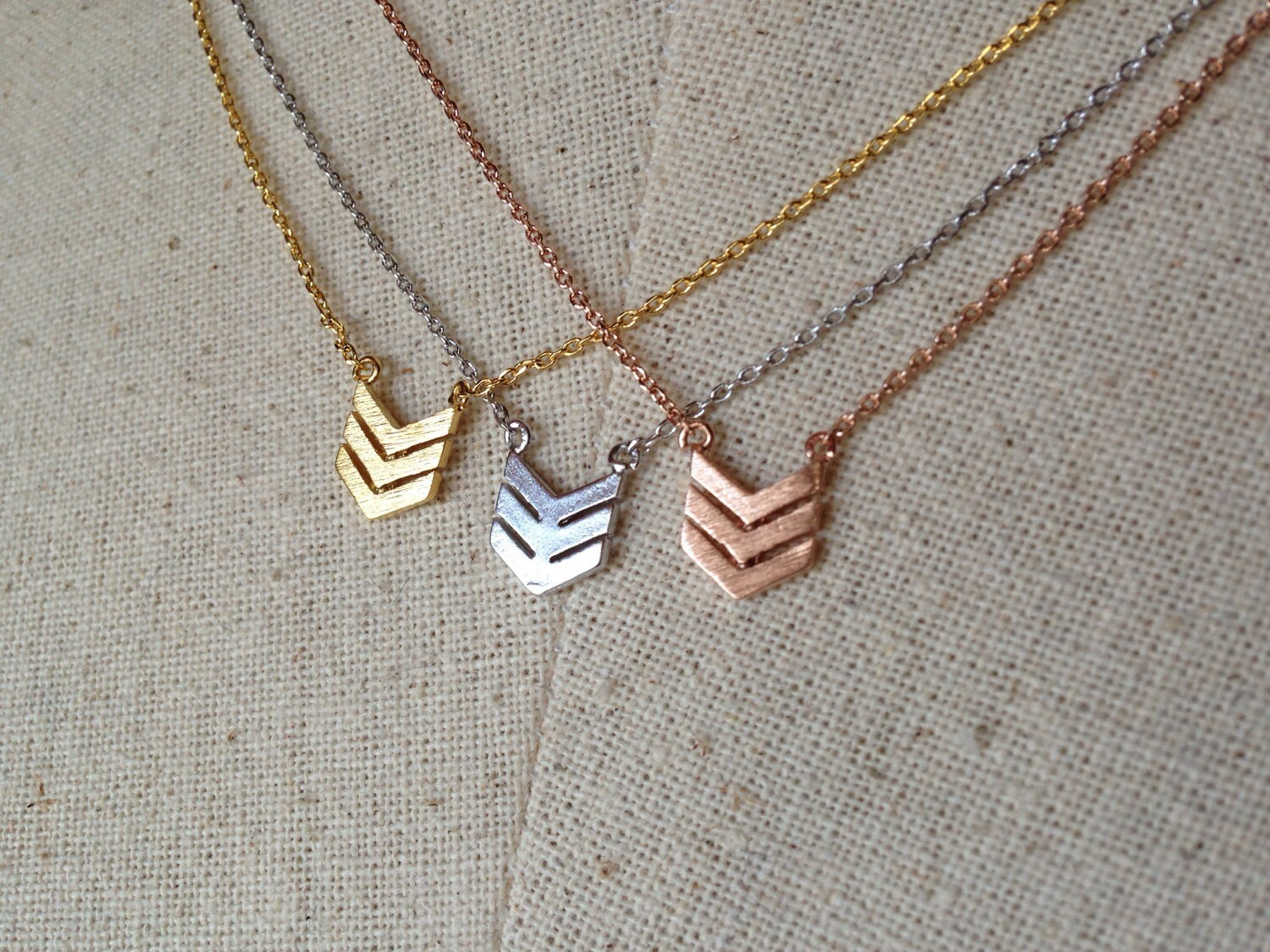 chevron necklace 18k gold gold silver dainty