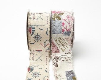 2.5 Inch Cotton Blend/Vintage Inspired Print by the Yard