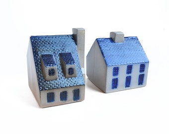 One, ceramic house, vintage bank, piggy bank, from Elizabeth Rosen