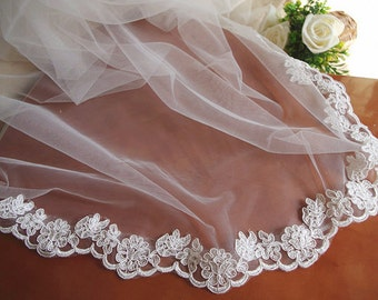 ivory bridal lace trim