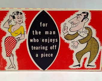 """Vintage 1950s 60s """"Tearing Off a Piece"""" Gag Gift"""