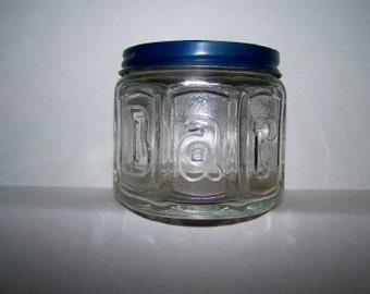 Vintage Old Cream Jar BARBASOL embossed octagon glass display pharmacy