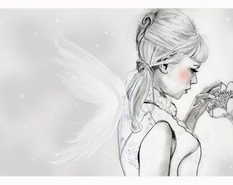 Angel with flower