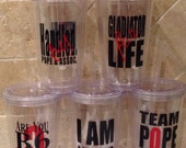 SCANDAL Tumbler w/Straw 4 Designs to Choose From