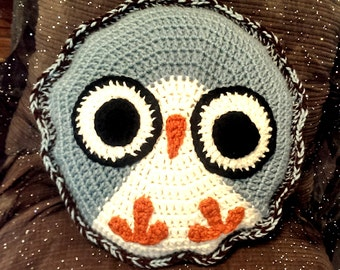 Crochet Owl Pillow - Personalized