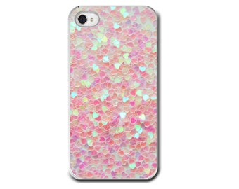 Pink Hearts, iPhone 6 iPhone 6  Plus Case, iPhone 5 Case, iPhone 4, 6 Plus Hearts, Pastel Pink Valentines Girly Whimsical Hearts, Phone Case