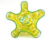 Yellow Hand Blown Glass Bowl - Art Glass Bowl