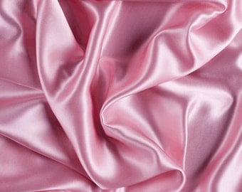 "42"" Wide Stretch Silk Charmeuse Bubble Gum Pink By the Yard"