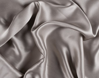 """45"""" Wide 100% Silk Charmeuse Light Taupe By the Yard"""