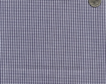 "60"" Wide Gingham 1/16 Inch Check Navy Blue By the Yard"