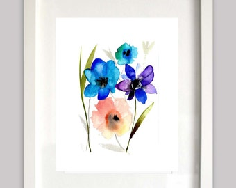 Sale last one Blue wash Giclee print