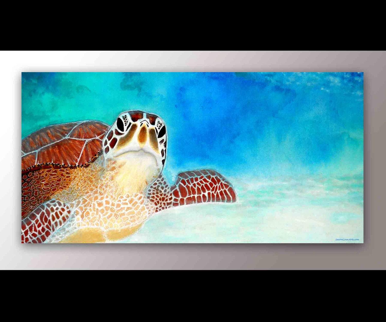 Turtle Art Sea Turtle Decor Sea Turtle Print Playroom