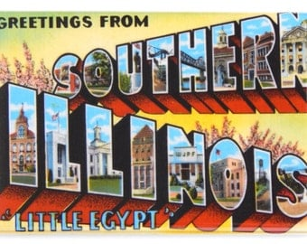 Greetings from Southern Illinois Fridge Magnet