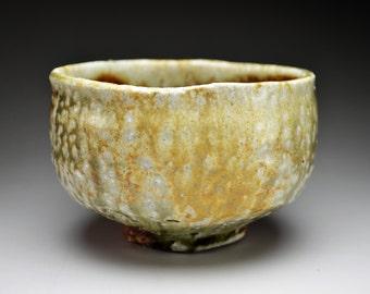 Shigaraki, anagama, ten-day anagama wood firing, with natural ash deposits tea bowl. chawan-77