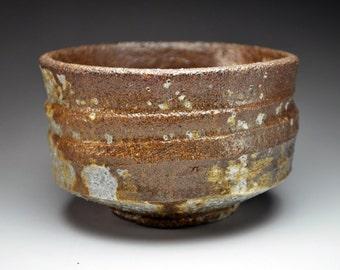 Shigaraki, anagama, ten-day anagama wood firing, with natural ash deposits tea bowl. chawan-78