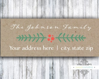 Return Address Labels - Set of 60 - Kraft Paper