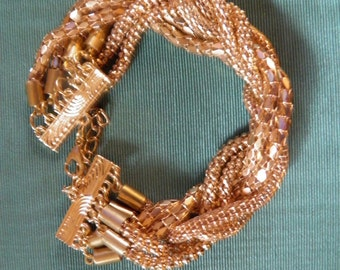 Wonderful Mesh Gold Bracelet.