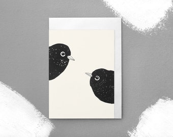 A couple of Waxeyes Greeting Card