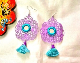 SALE------ GYPSY'S SPRING Earrings - Middle Eastern Jewelry- Arabesque Earrings- Arabian nights Jewelry - Gypsy Earrings
