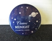 Vintage Carter's Midnight Typewriter Ribbon Tin