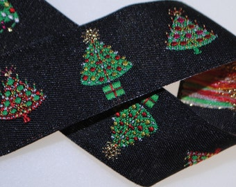 Christmas Trees Ribbon 7/8 inches wide (22mm)