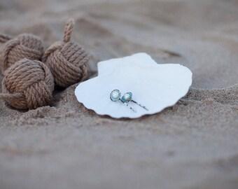 Beach Wedding Hair - Pearl and Limpet Shell Hair Pins - Something Blue - Hairpins - Seashell Hair Accessories - Mermaid Hair - 2 pins