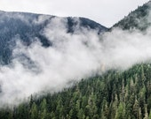 Mountains, Cascades, Washington State, Top of the Mountain, Clouds 12 x 18 Fine Art Photography