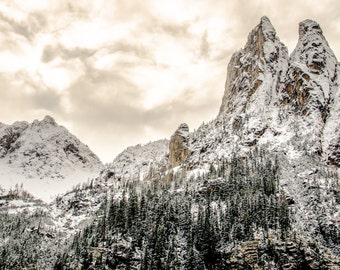Mountain Top, Clouds, Landscape 11 x 14 Fine Art Photography Print