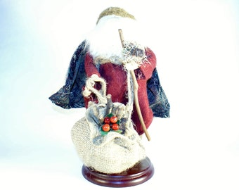 Santa Statue Claus Christmas Figurine Holiday Tall Decoration Figure Clause Collection Vintage Large