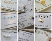 Gift message display card add on, holiday gift messages for SimplyBrieDesigns jewelry, custom messages or pre made special messages mom gift