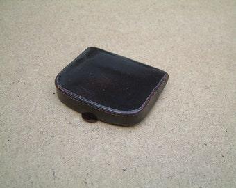 Vintage antique 1920- 30's brown genuine leather wallet, coin purse