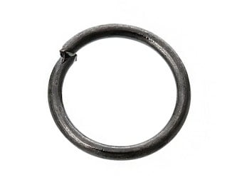 2000 Gunmetal Jump Rings - WHOLESALE - Open - Round - 8mm - 21 Gauge  - Ships IMMEDIATELY from California - F263a